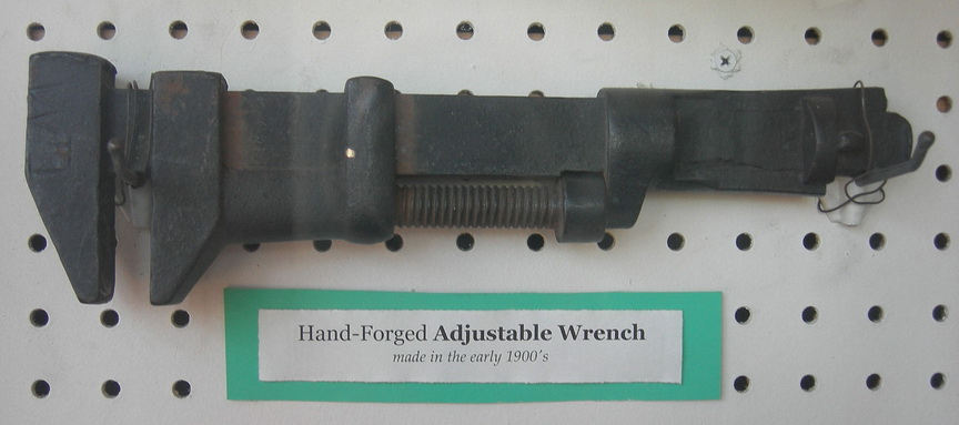 1900 hand forged adjustable wrench